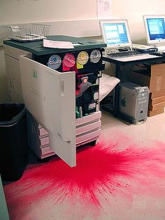 Your printer dies horribly