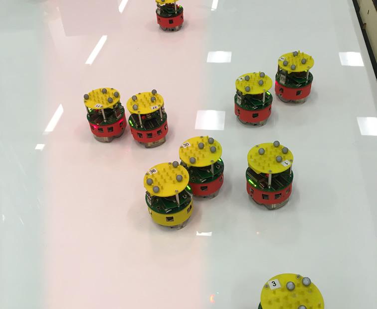 A swarm of e-puck robots