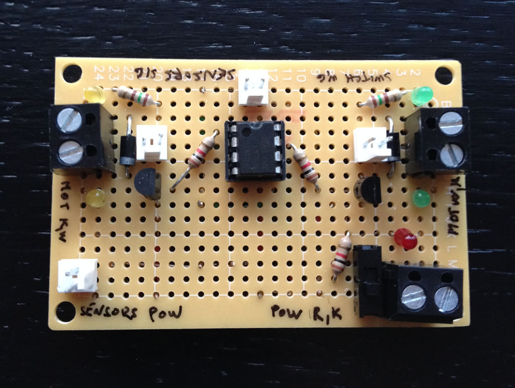 Control board top