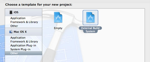 Creating a new XCode project step 1